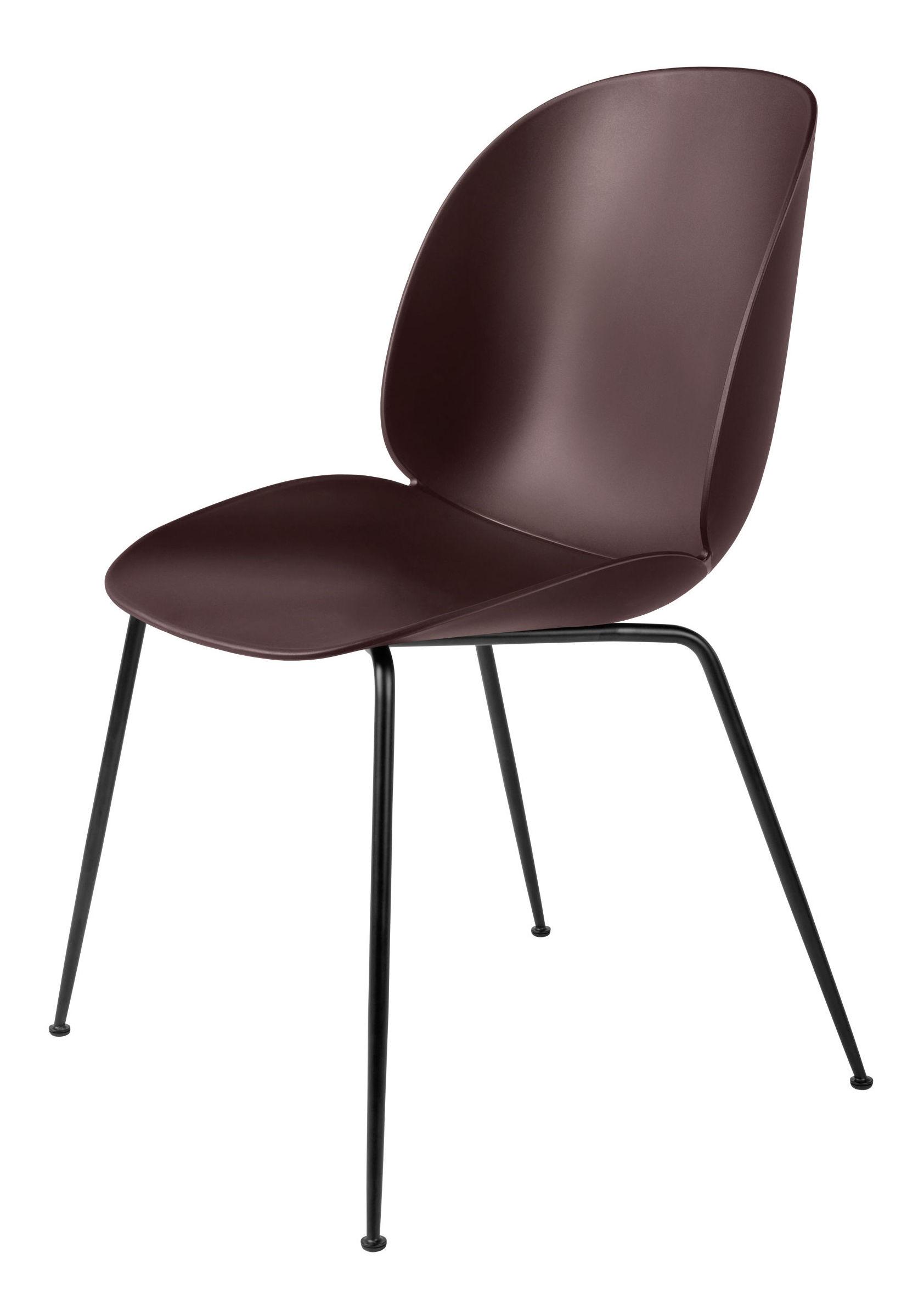 Gubi Gubi - beetle spisebordsstol - dark pink /sort stål fra unoliving.com