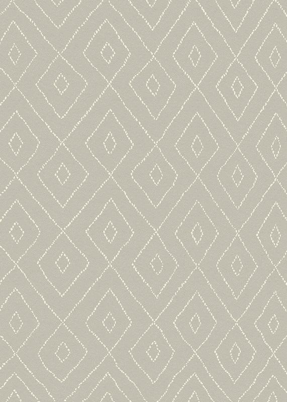 Gent luvtæppe - grå m. mønster - 140x200 fra N/A på unoliving.com
