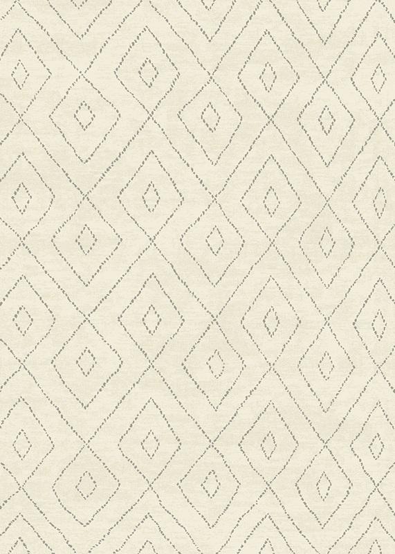 N/A – Gent luvtæppe - beige m. mønster - 160x230 på unoliving.com
