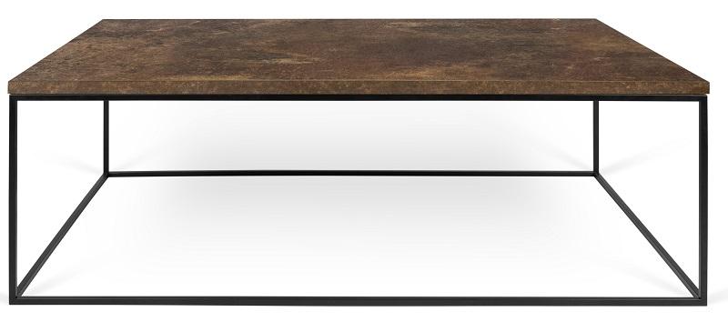 Temahome Temahome - gleam sofabord - brun 120 cm fra unoliving.com