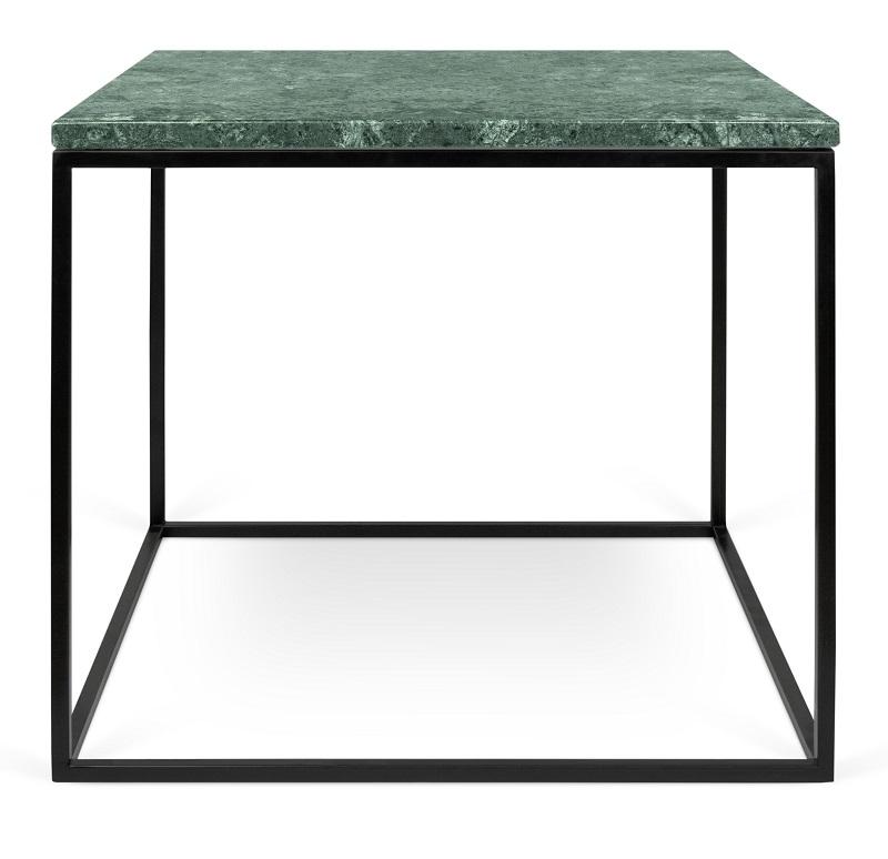 Temahome - gleam sidebord - grøn m/sort stel 50 cm fra Temahome på unoliving.com