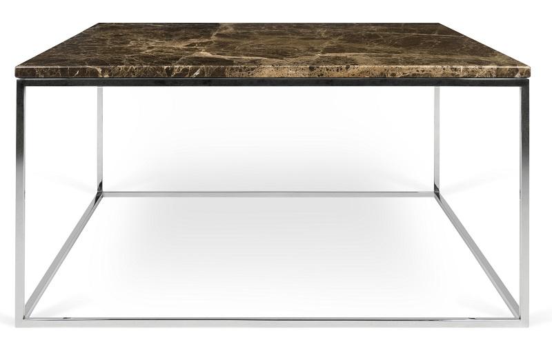 Temahome – Temahome - gleam sofabord - brun m/krom stel 75 cm på unoliving.com
