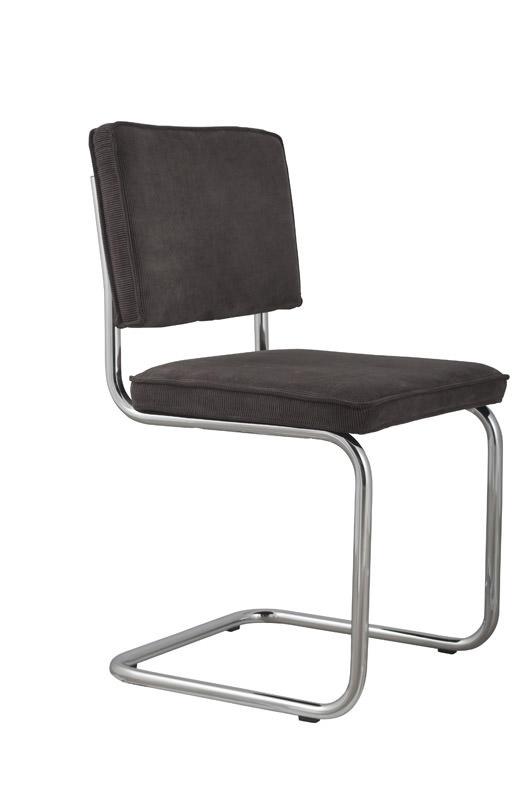 Zuiver - ridge spisebordsstol - grå fløjl fra Zuiver på unoliving.com