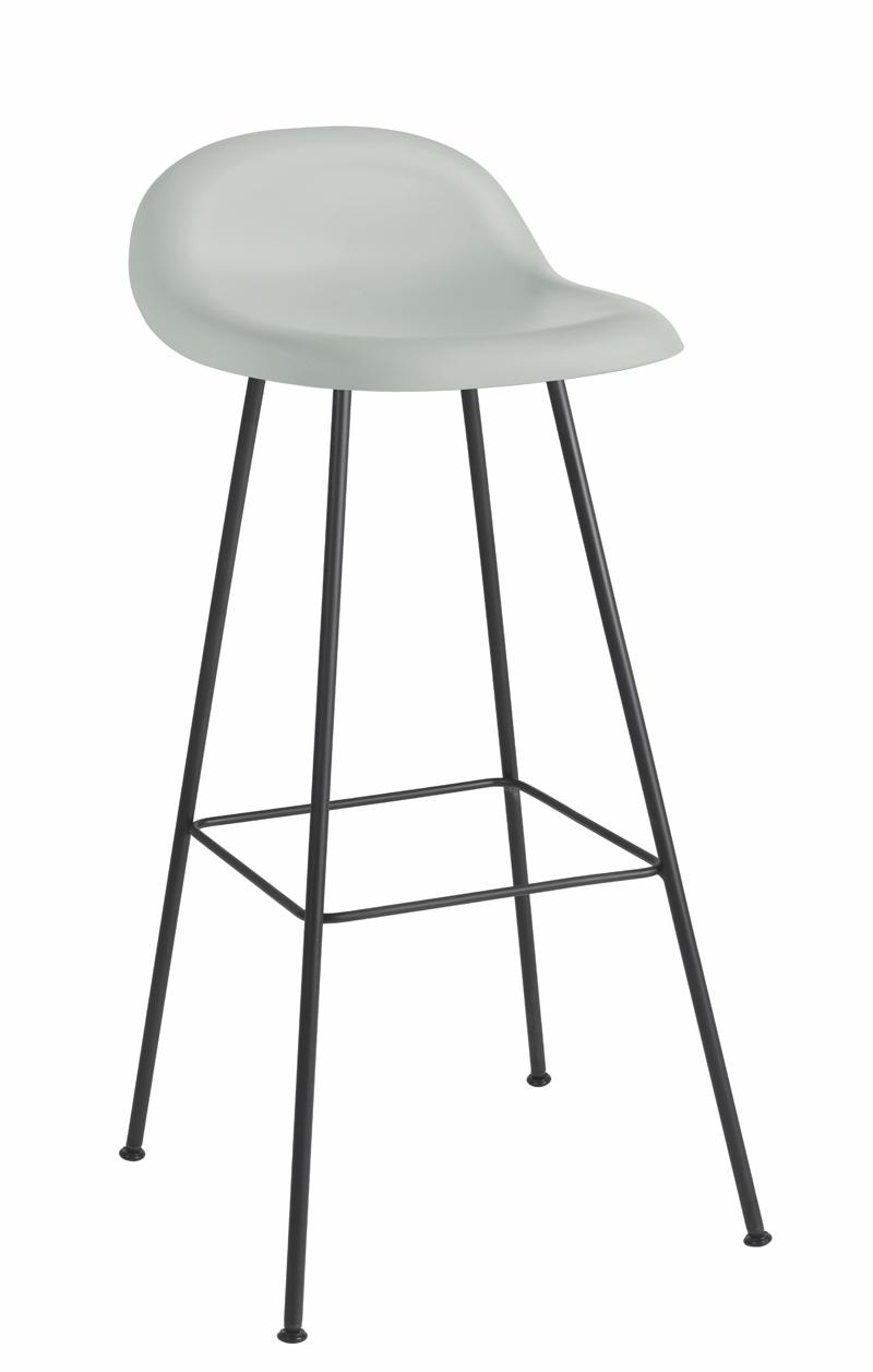 Gubi - 3d barstol - blå fra Gubi fra unoliving.com