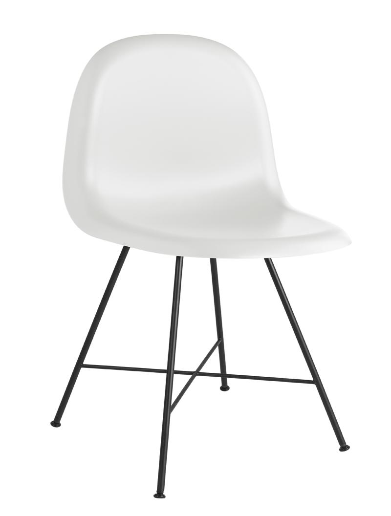 Gubi – Gubi - 3d spisebordsstol - hvid fra unoliving.com