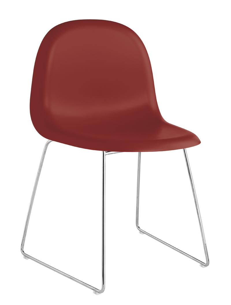 Gubi Gubi - 3d spisebordsstol - rød på unoliving.com