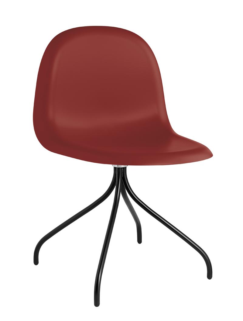 Gubi - 3d spisebordsstol - rød fra Gubi fra unoliving.com