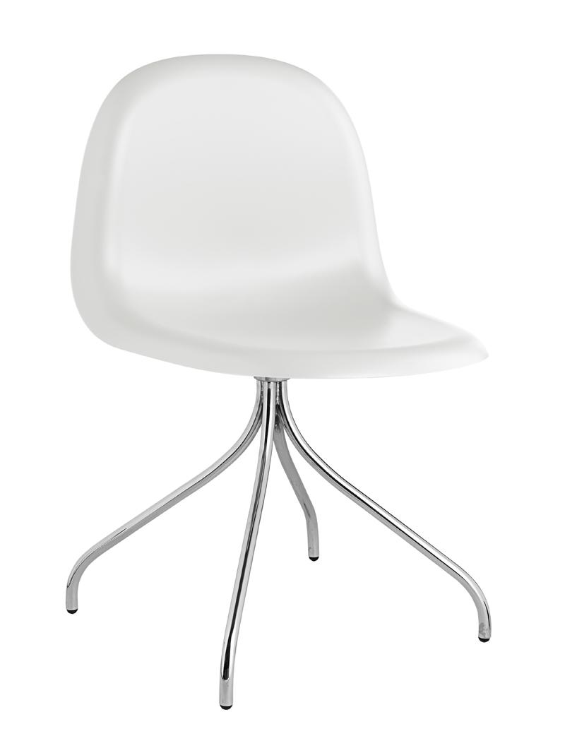 Gubi Gubi - 3d spisebordsstol - hvid fra unoliving.com