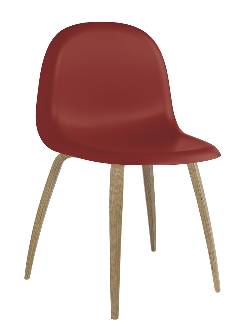 Billede af GUBI - 3D Spisebordsstol - Rød
