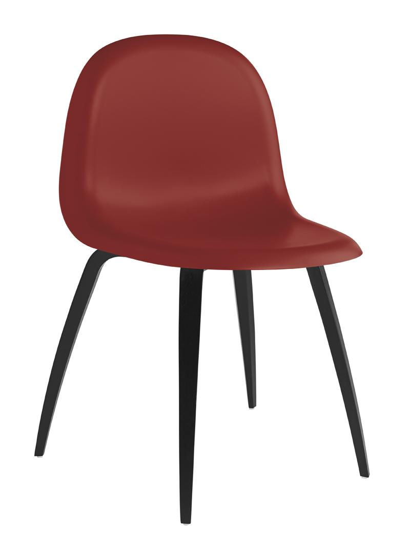Gubi – Gubi - 3d spisebordsstol - rød på unoliving.com