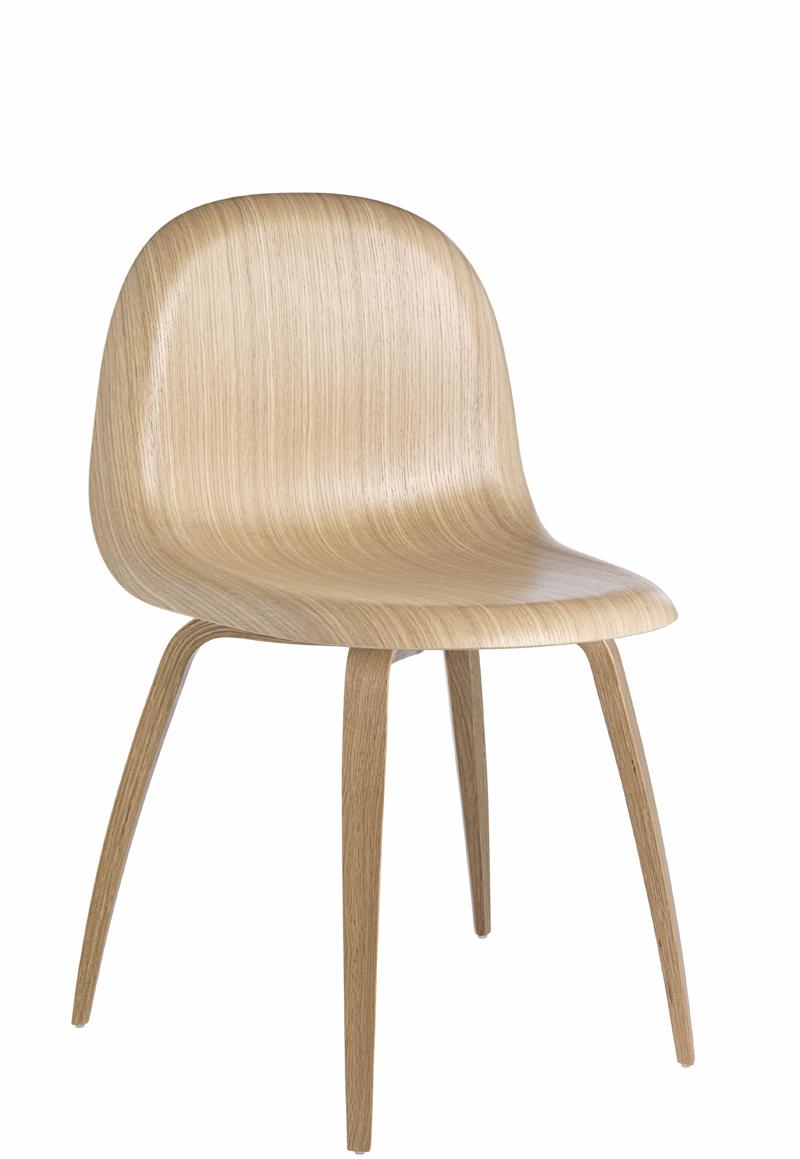 Gubi – Gubi - 3d spisebordsstol - egefinér fra unoliving.com