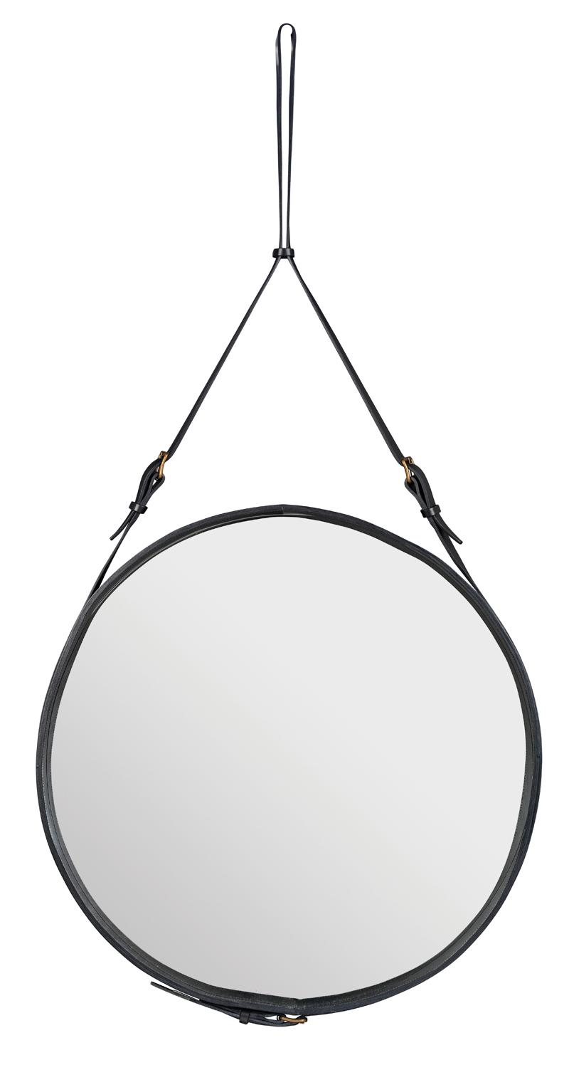 Gubi Gubi - adnet spejl - ø70 - sort på unoliving.com