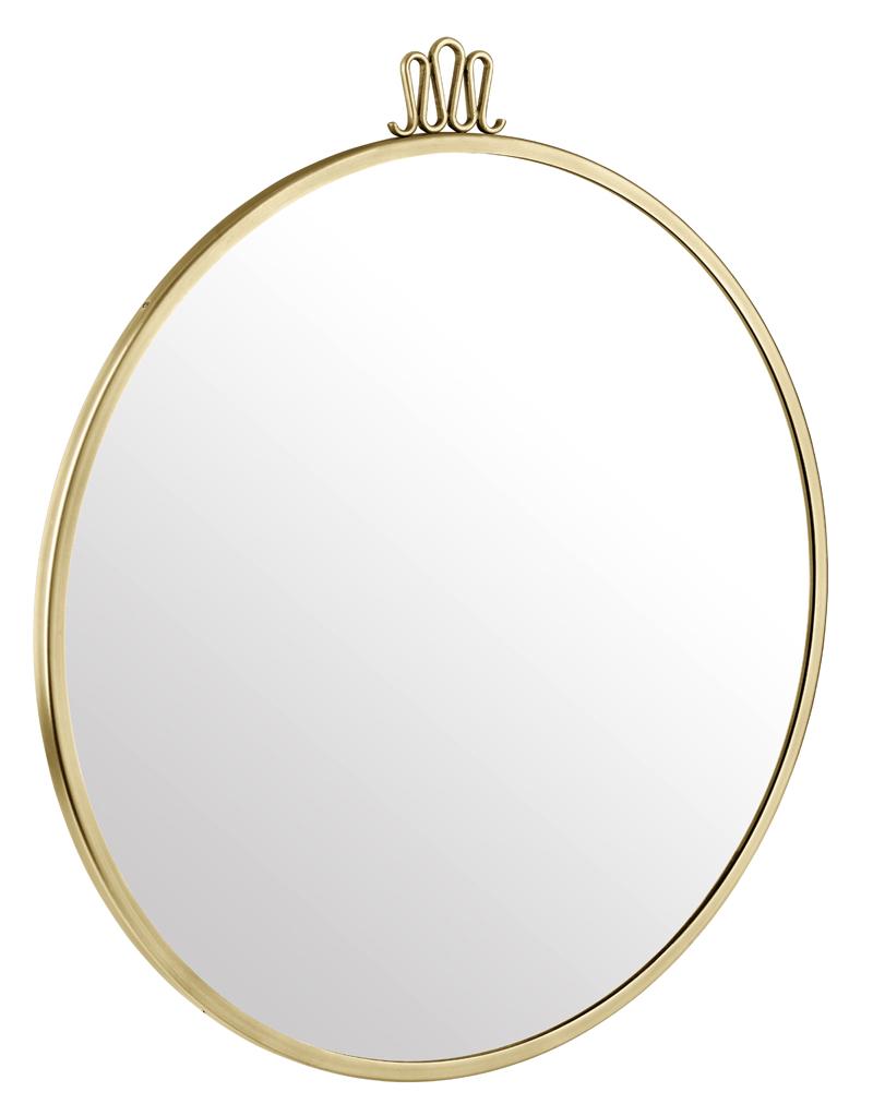 Gubi – Gubi - randaccio spejl - ø60 - messing fra unoliving.com