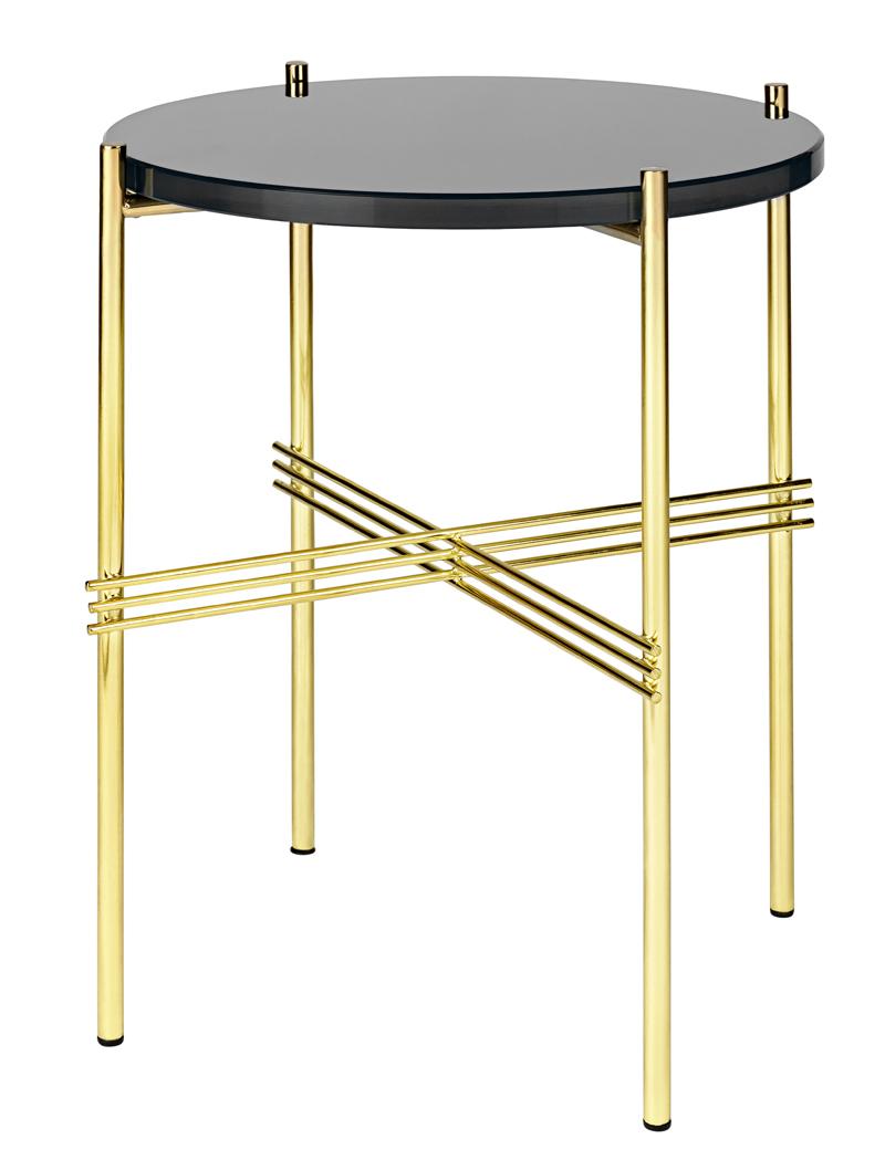 Gubi - ts lounge bord - sort glas - ø40 fra Gubi fra unoliving.com