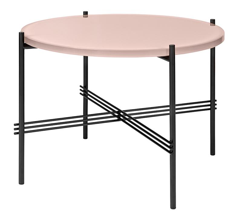 Gubi - ts lounge bord - vintage rød glas - ø55 fra Gubi på unoliving.com