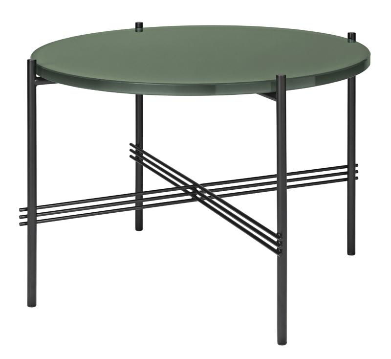 Gubi – Gubi - ts lounge bord - grøn glas - ø55 fra unoliving.com