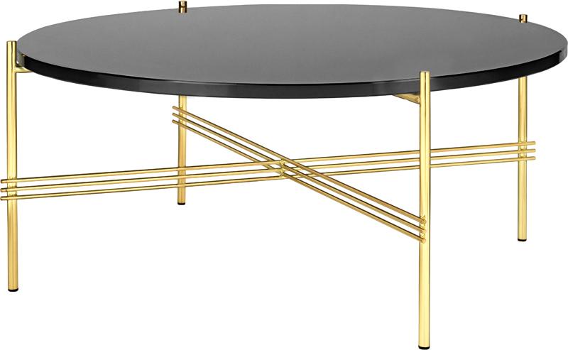 Gubi – Gubi - ts lounge bord - sort glas - ø80 på unoliving.com