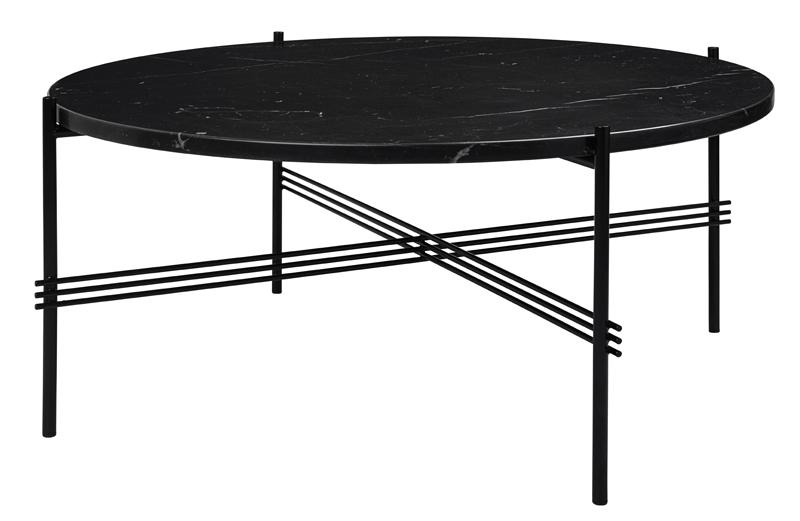 Gubi – Gubi - ts lounge bord sort marmor - ø80 fra unoliving.com