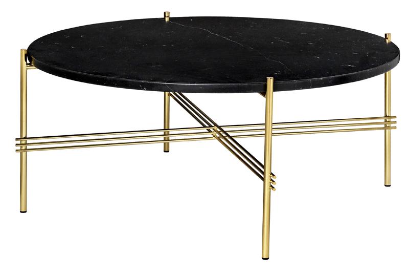 Gubi - ts lounge bord sort marmor - ø80 fra Gubi på unoliving.com