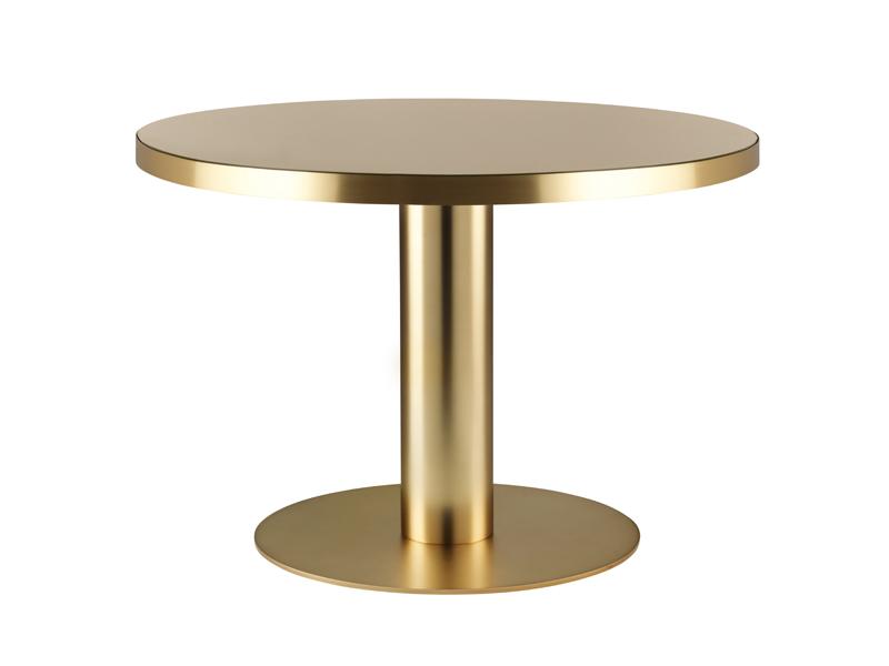 Gubi Gubi - 2.0 spisebord - sand glas - ø110 fra unoliving.com