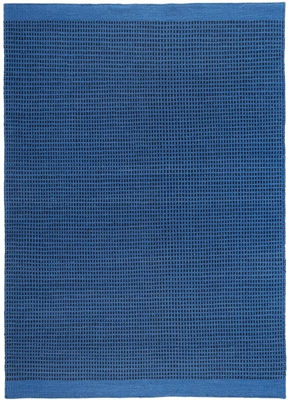 N/A – Kelim trend 200x140 - blå uld fra unoliving.com