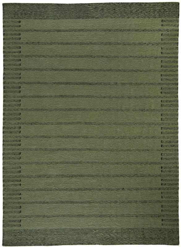 Trend uld kelimtæppe - grøn - 140x200 fra N/A på unoliving.com