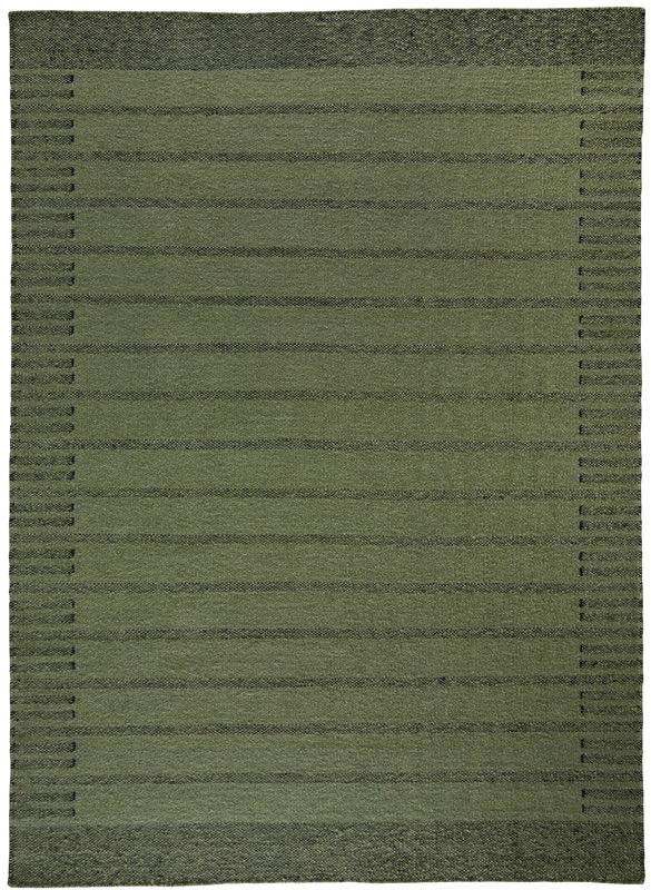 N/A – Trend uld kelimtæppe - grøn - 170x230 fra unoliving.com