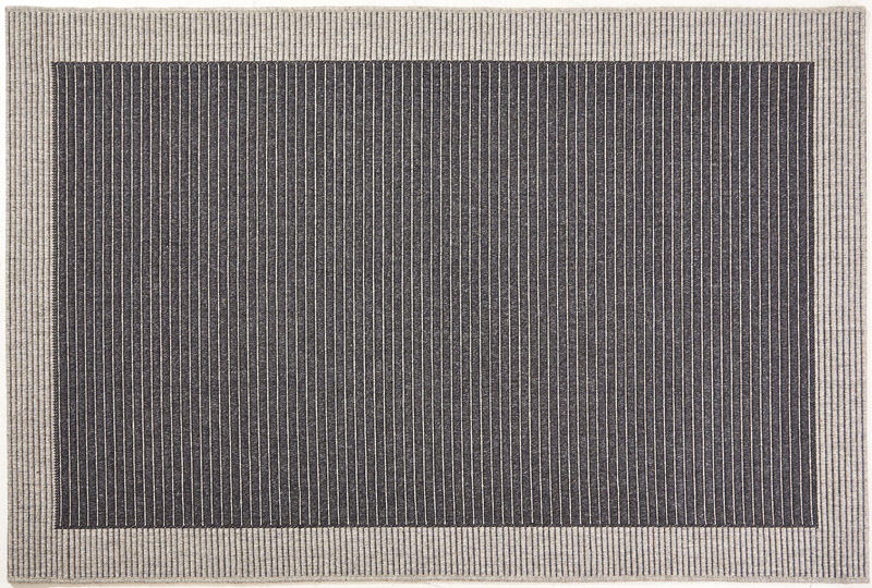 N/A New casablanca uld tæppe m. lys grå kant - 80x350 på unoliving.com