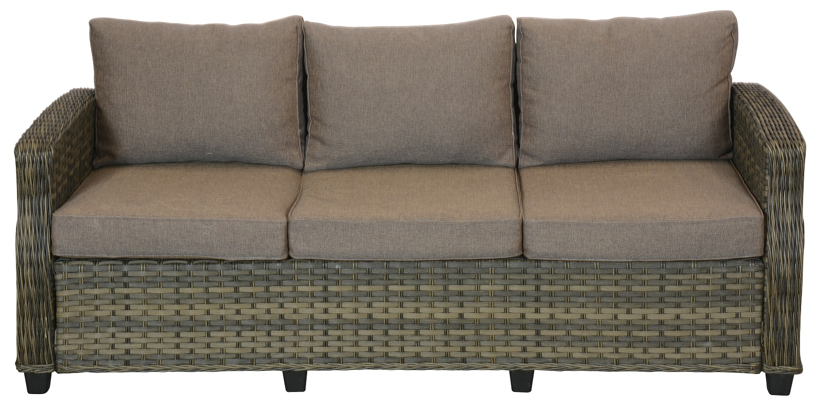 N/A øland havesofa 3 pers. - taupe fra unoliving.com