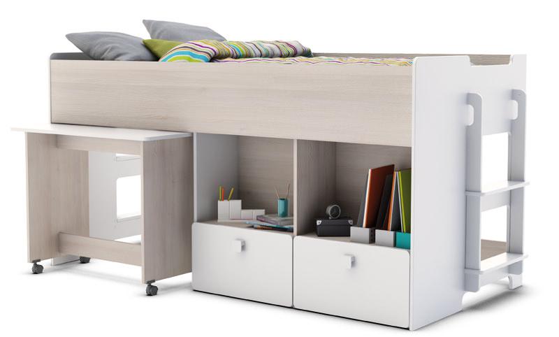 Game halvhøj seng 190 x 90 cm fra N/A på unoliving.com