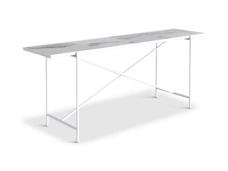 """Handvã""""rk – Handvã""""rk - konsolbord 184x46 - hvid marmor fra unoliving.com"""