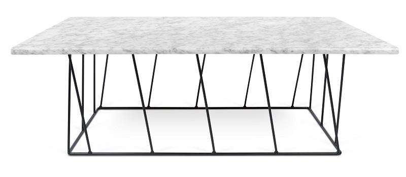 Temahome - helix sofabord - hvid marmor m/sort stel fra Temahome fra unoliving.com