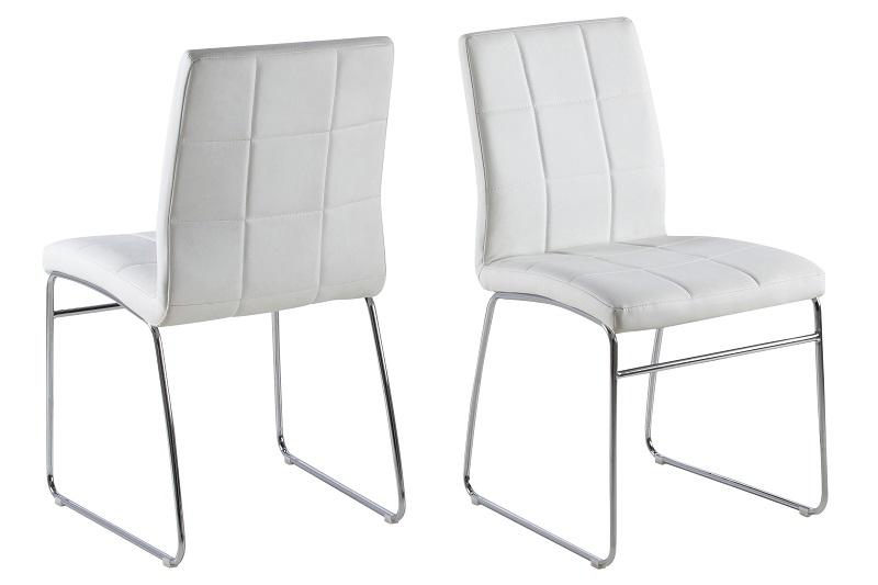 N/A – Holly spisebordsstol - hvid pu fra unoliving.com