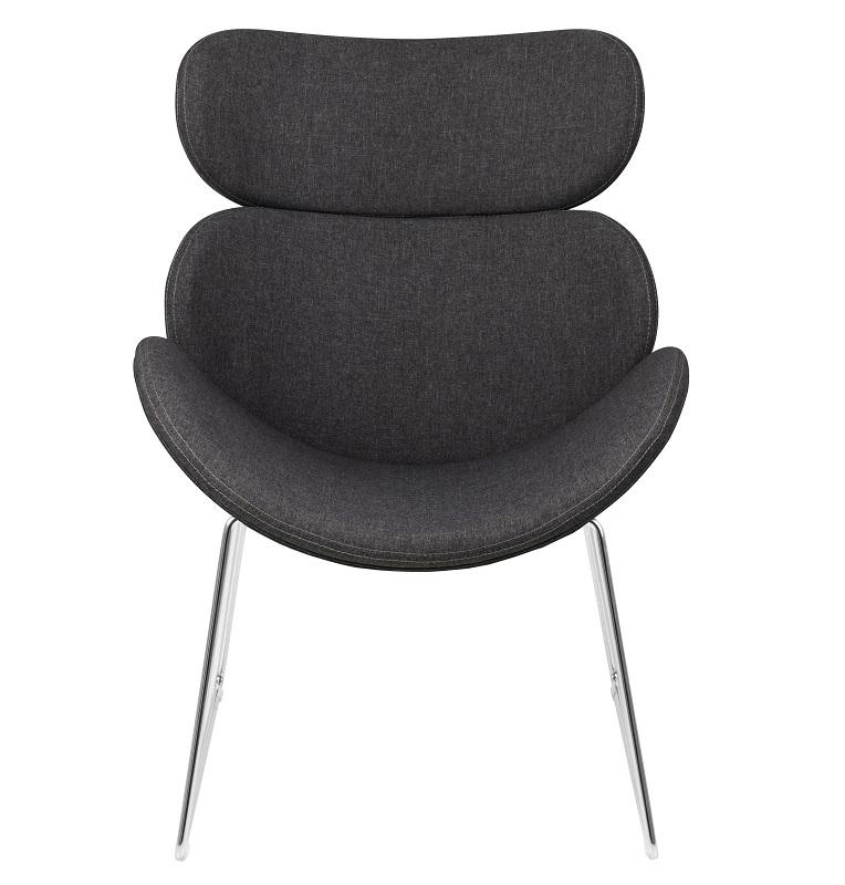 Hunt hvilestol i grå stof - krom stel fra N/A på unoliving.com