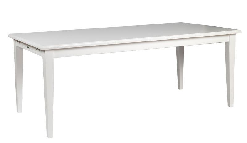 N/A – Moss spisebord - hvid - 200x100 fra unoliving.com