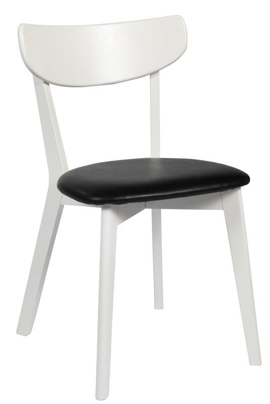 Vega spisebordsstol - hvid m. sort pu sæde fra N/A på unoliving.com
