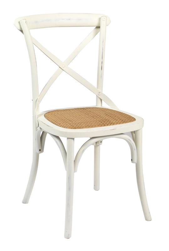 N/A – Bistro spisebordsstol - hvid fra unoliving.com