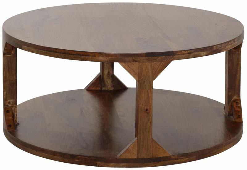 N/A – India sofabord mørk brun - ø90 på unoliving.com