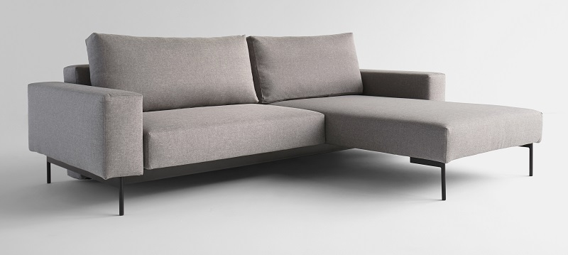 Innovation living Innovation living - bragi sovesofa m/chaise lys grå fra unoliving.com