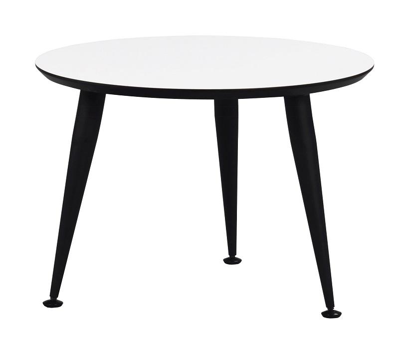 Kick sofabord - hvid m. sort ben ø56 fra N/A fra unoliving.com