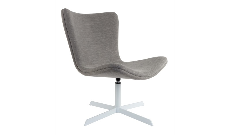 Homii kjell loungestol m. drejefod - grå stof fra N/A fra unoliving.com