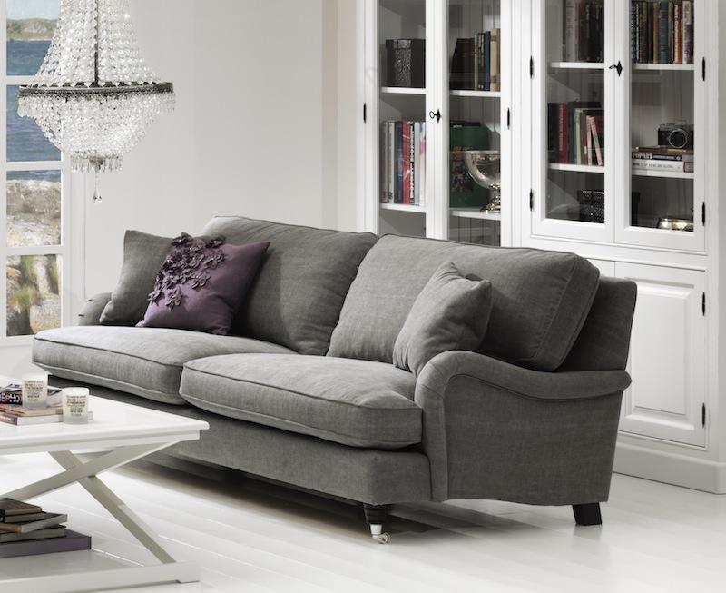 N/A Lancaster 3-pers. sofa - grå stof på unoliving.com