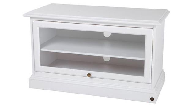 N/A Donegal tv-bord - 98 cm - hvidmalet fra unoliving.com
