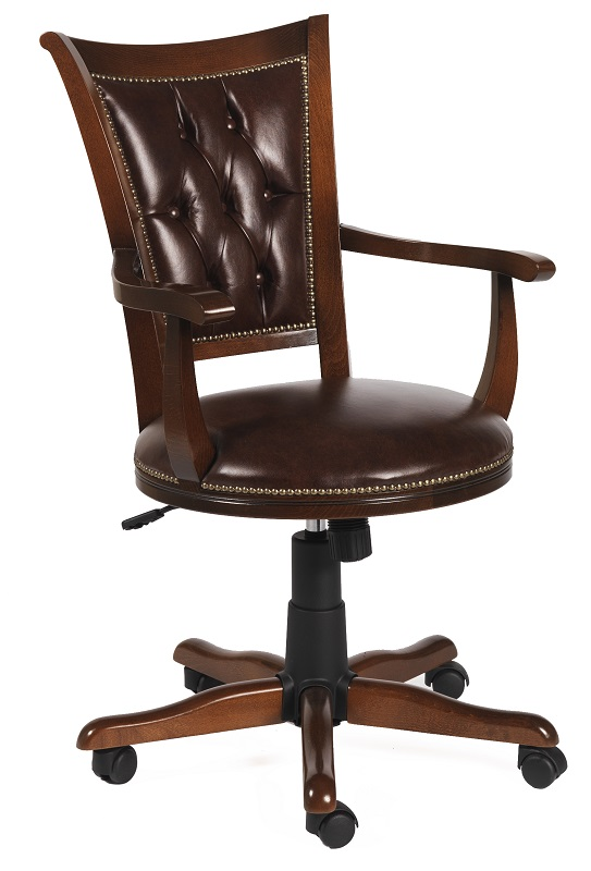 N/A – Hercules kontorstol m. brunt lædersæde fra unoliving.com