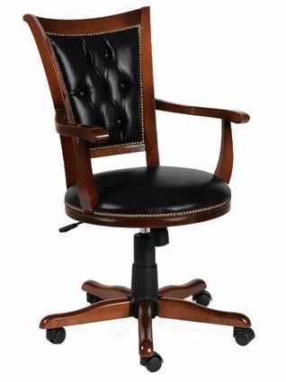 Hercules kontorstol m. sort lædersæde fra N/A på unoliving.com