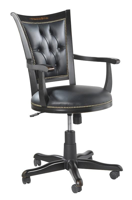 Hercules kontorstol - sort m. sort lædersæde fra N/A på unoliving.com