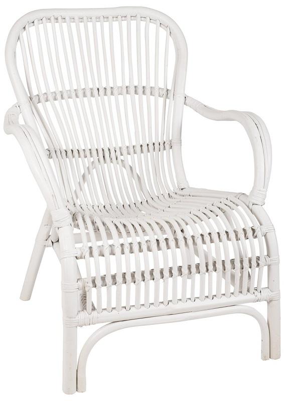 Ib laursen - loungestol - hvid rattan fra Ib laursen fra unoliving.com
