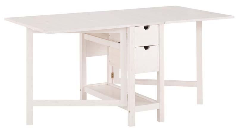 N/A – Lillian spisebord hvid lakeret fyrretræ på unoliving.com