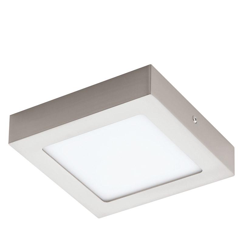 N/A – Fueva led loftlampe - børstet stål - 17x17 på unoliving.com