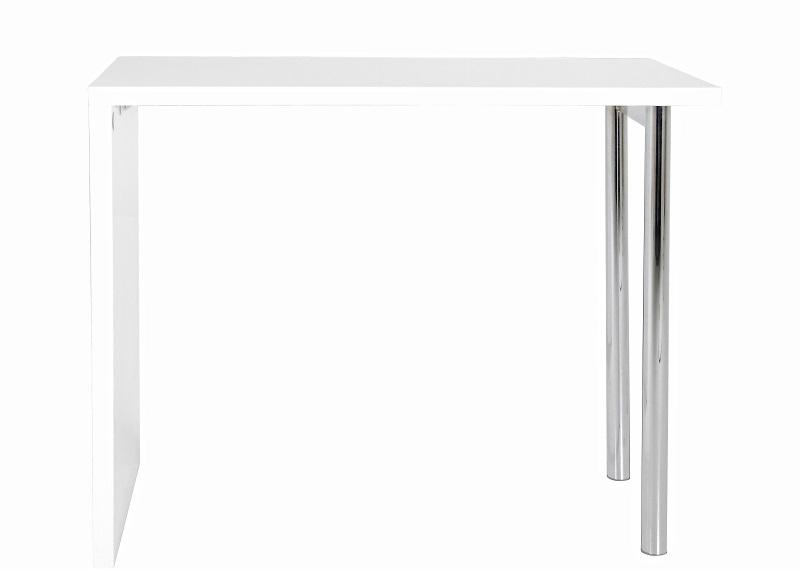 N/A – Lounge barbord h105 i hvid højglans - 2 krom ben fra unoliving.com